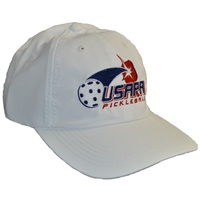 USAPA embroidered logo performance cap. White