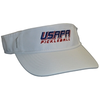 USAPA embroidered logo CoolCore visor. White