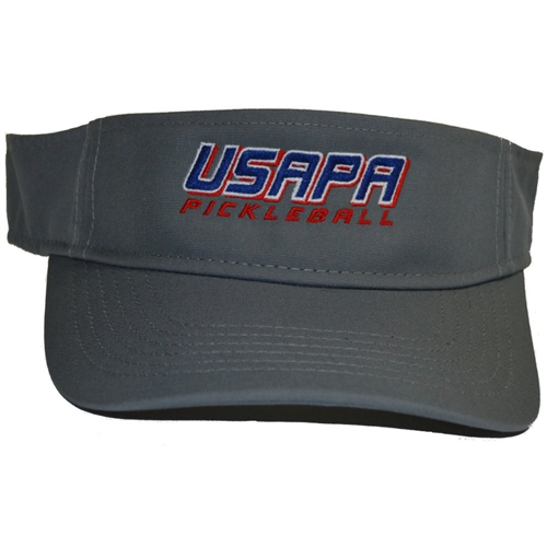 USAPA embroidered logo CoolCore visor. Frost Gray, Navy, Khaki