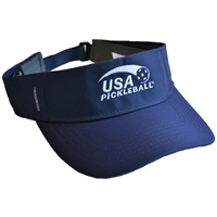 USA Pickleball embroidered logo navy CoolCore visor.