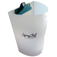 The Spray Pal splatter shield makes spraying cloth diapers EASY.