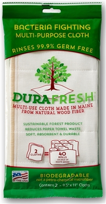 Durafresh Bacteria Fighting Multi-Purpose Cloth (2pk)