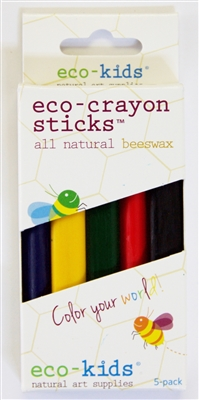 eco-kids eco-crayons sticks 5pk