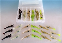 "3"" Shrimp 18 Piece Kit With Tackle Box"