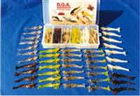 "3"" Shrimp 42 Piece Kit With Tackle Box"