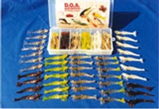 "4"" Shrimp UNRIGGED 48 Piece Kit with Tackle Box"