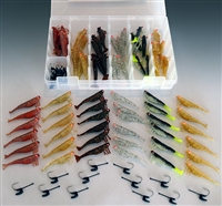 "2.75"" Shrimp 48 Piece Kit With Tackle Box"
