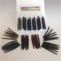 "5"" C.A.L. Worm Kit 36 Piece with Tackle Box"