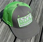 D.O.A. Mesh Patch Cap - Lime Green & Gray