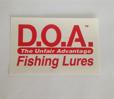 Clear D.O.A. Stickers