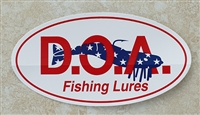Oval D.O.A. Stickers