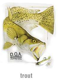 D.O.A. T Shirt - Trout - Short or Long Sleeve
