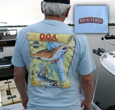 NEW - D.O.A. - BLUE Inlet Shirt - Short Sleeve