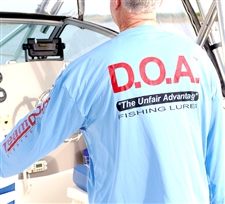 NEW - D.O.A. - DryFit Shirt - Blue - Long Sleeve Only