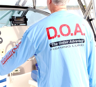 NEW - D.O.A. - DryFit - Blue - Long Sleeve Only