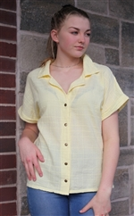 #407S Dotty Gauze Mary Shirt