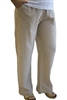 #422A Dotty Gauze Cotton Flood Pant-TAN