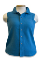 #523S Mirage Cotton Snap Vest - Majestic Blue