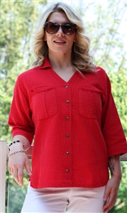 #530 Mirage Cotton Delia Shirt