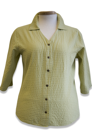 #544S Mirage Cotton 3/4 Sl. Snap Shirt - Citron