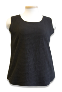 #562S Mirage Cotton Tank Top - Black