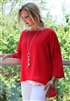 #PL452 DG Cotton 3/4 Sleeve Tegan Top