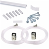 Minirail Kit picture hanging system with two hooks and two perlon cords