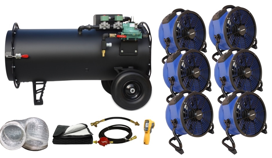 Bed Bug Removal Heater Fan Packages Black Widow Basic Bundle