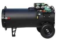 Black Widow Propane Heater - 500,000 BTU Direct Fired Propane Heater for the construction industry
