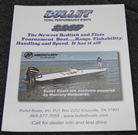 Bullet Brochure 22SF- Flats and Redfish tournament boat-FREE!