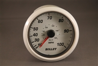 Bullet Speedometer Gauge with Bullet Logo Black or White