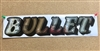 Domed Mirrored Chrome & Black Rear Window Truck Decal Sticker