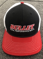 Richardson Bullet Logo Solid Back Hat Red, White, Black