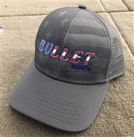 Bullet Limited Edition Flag Logo Hat Snap Back Mesh Back