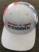 "Bullet ""America"" Flag Logo Richardson Hat Mesh Back Red, White & Blue"
