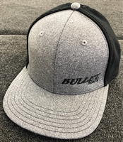 Fitted Mesh Back Bullet Logo Heathered Hat