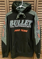 Bullet / Mercury Logo Hooded Sweatshirt Hoodie Black and Red