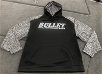 Classic Bullet Logo Performance Heathered Sleeve Hoodie Hooded Sweatshirt