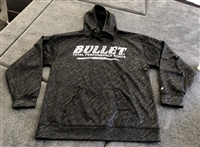 Bullet Logo Line Embossed Hooded Sweatshirt, Black with Gray Bullet Logo