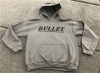 Bullet Logo Youth Hoodie Gray with Black Logo.