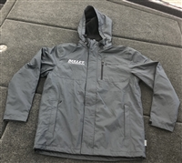 Bullet Logo Cold Weather Driving Jacket Gray w/ Silver & Black Logo