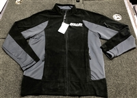 Bullet Logo Lightweight Microfiber Fleece Full Zip Jacket