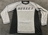 Heather Gray & Black Bullet Logo Long Sleeve Fishing Jersey
