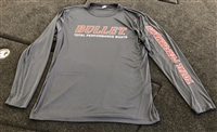 Bullet Logo Pro Style Performance Tournament Jersey Grey with Red Logos