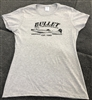 Bullet Logo Vintage Style Ladies Cut Heather T-shirt