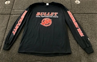 Bullet / Mercury Long Sleeve T-shirt Black with Red Logos