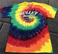 "Bullet Logo Awesome Tie Dye Rainbow ""Total Performance in any Color"" T-Shirt"