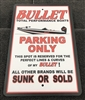 "Bullet Boats ""No Parking"" 12"" x 18"" Aluminum Sign"