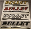 SMALL BULLET FLARE DECAL, USED ON TRAILER BOW STOPS AND ACCESSORIES