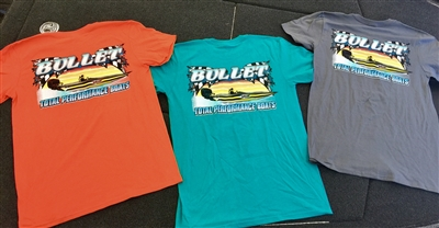 T-shirt- Bullet Logo and Sunset graphics on Front and Back